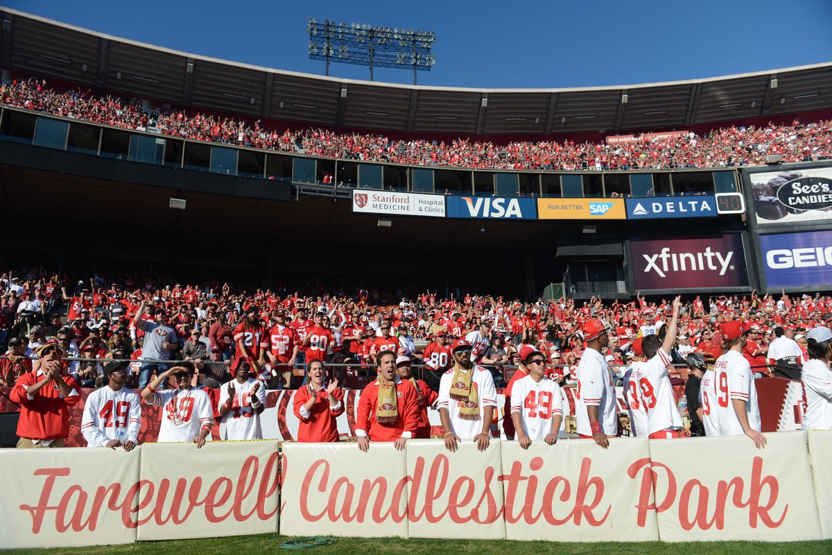 The 49ers play what will likely be their last home game in Candlestick Park on Monday Night Football.