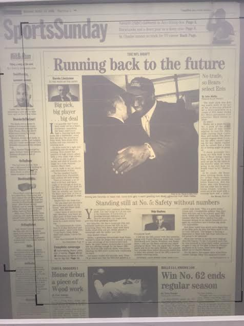 5ec9fdffe From the Chicago Tribune  the Bears draft Curtis Enis in 1998.