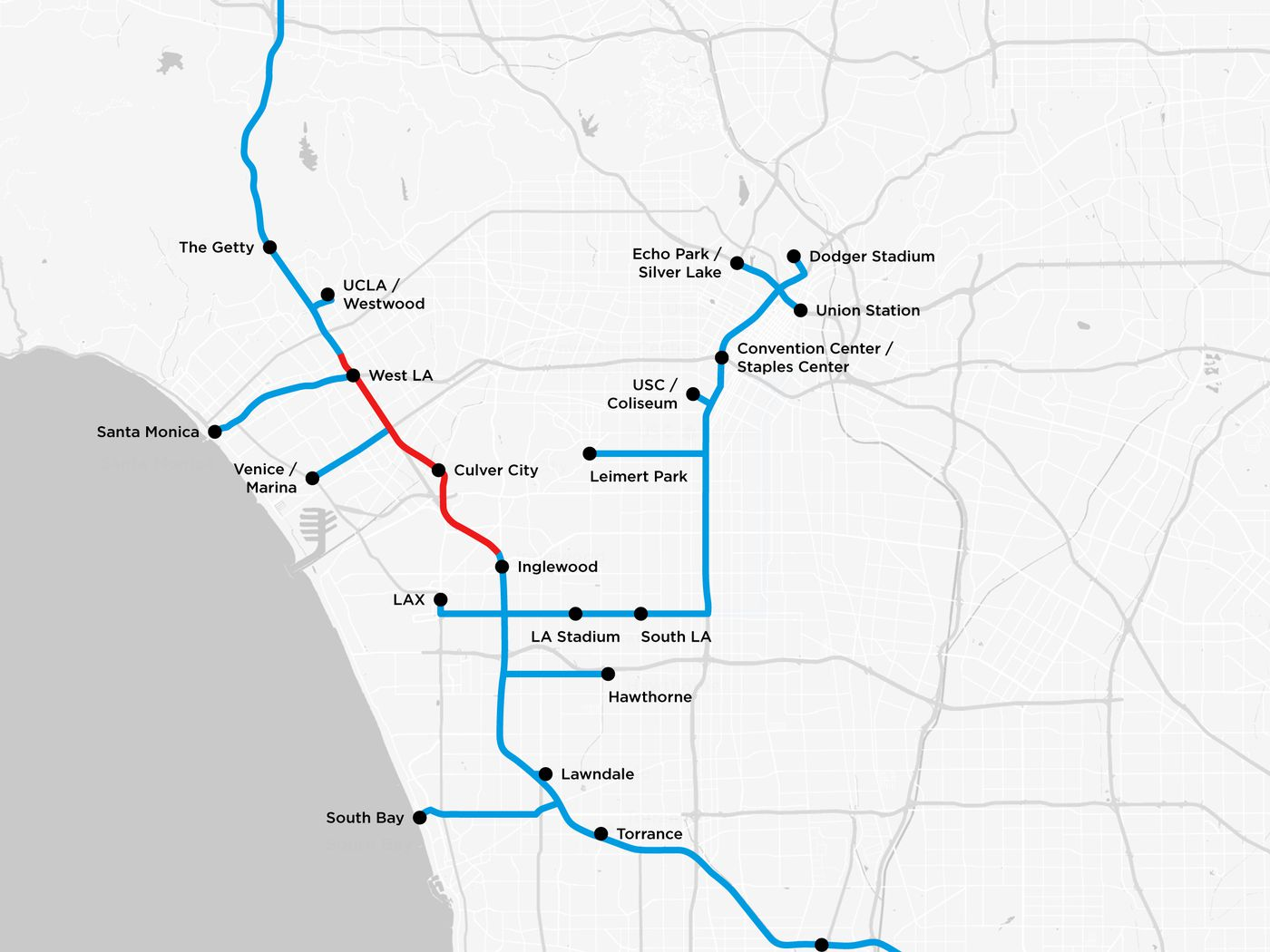 Silverlake Los Angeles Map.Elon Musk S Tunnels Below La Detailed In New Plans Curbed La