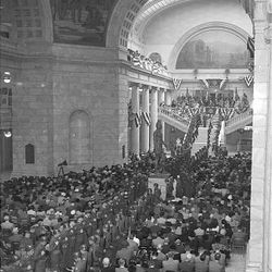Crowds gather in the Capitol to see J. Bracken Lee Inaugurated for a second time on Jan. 5, 1953.