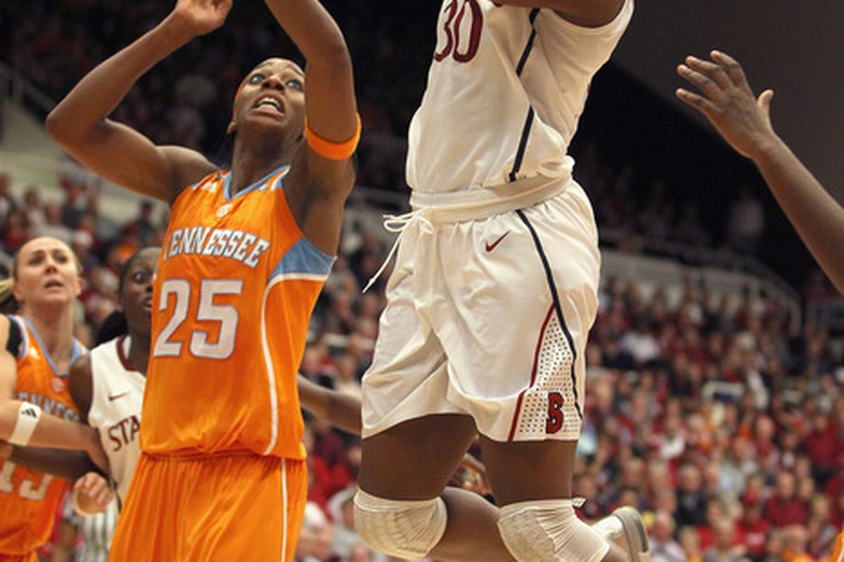 Nneka Ogwumike poured in a career-high 42 points against Tennessee in December.