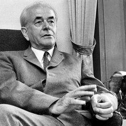 Albert Speer, who was the German minister of armaments during World War II, is pictured, Sept. 13, 1969, in Heidelberg, Germany.