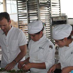 Mads Refslund and his crew making tostadas.