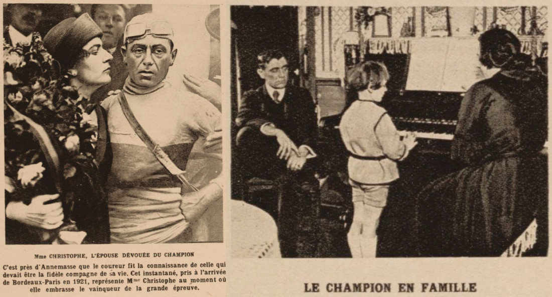 Christophe in 1921 (left) and 1922 (right)