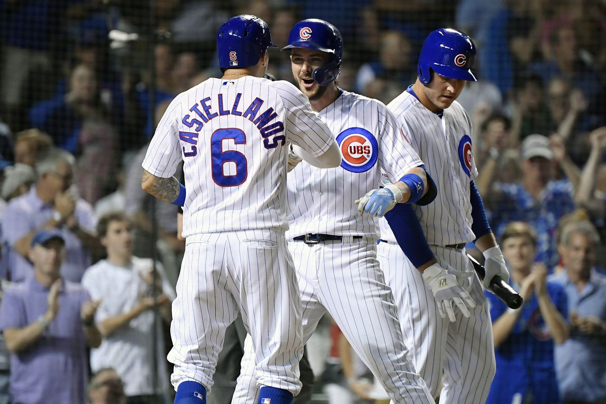 newest 7bcf5 8fc8f Cubs 12, Giants 11: Kris Bryant saves the day - Bleed Cubbie ...
