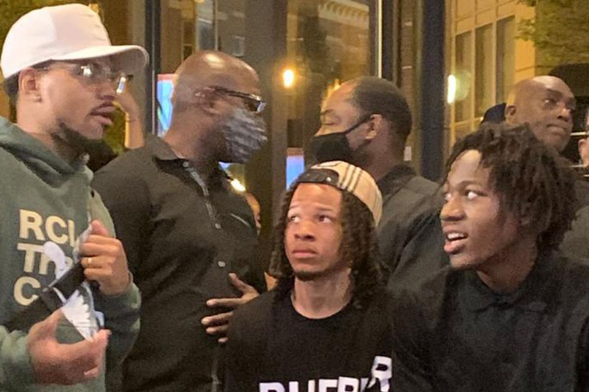 Chance the Rapper made an appearance at Ayo Dosunmu's NBA Draft party.