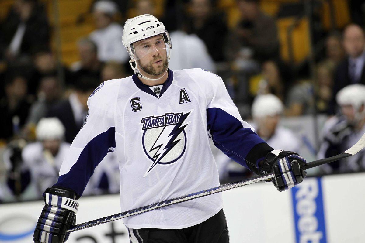 Defenseman Mattias Öhlund hasn't skated with the Lightning for the last three years.