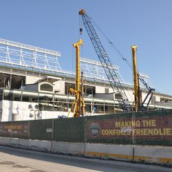 View of the ballpark from Waveland -