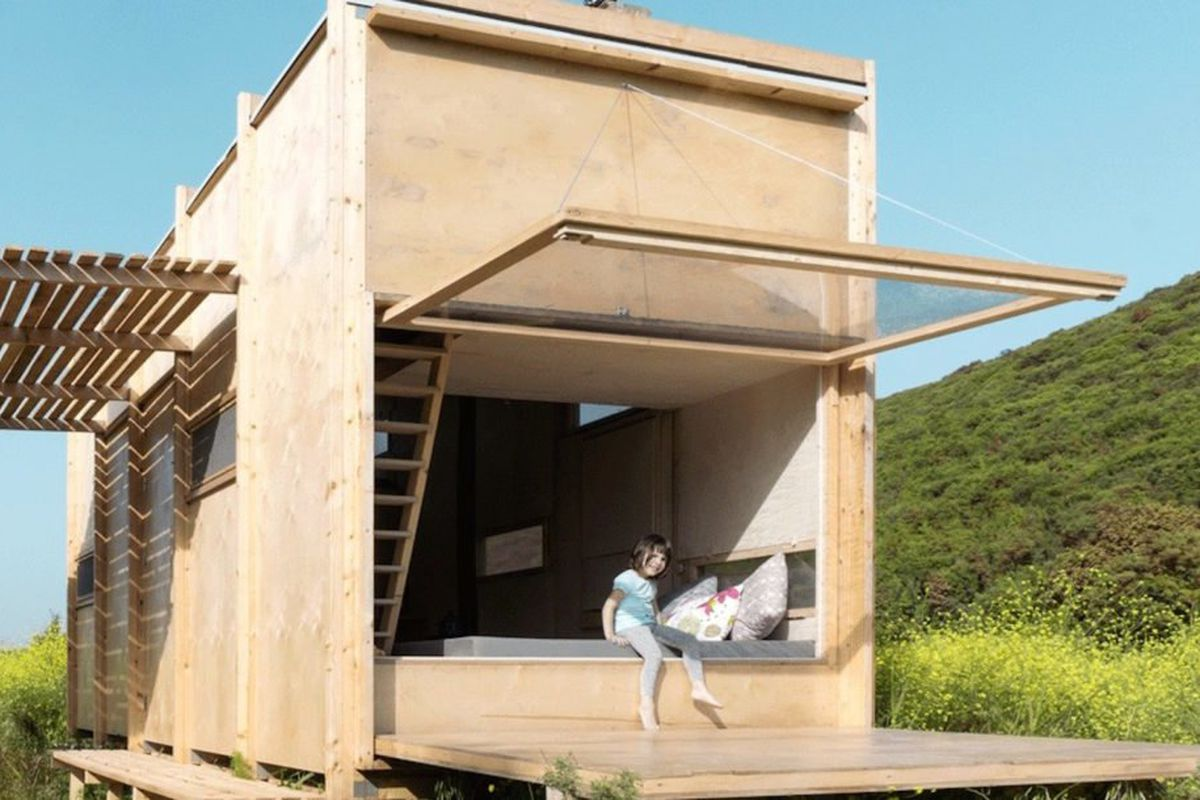 Tiny Prefab Cabin Makes Indoor Outdoor Living A Breeze
