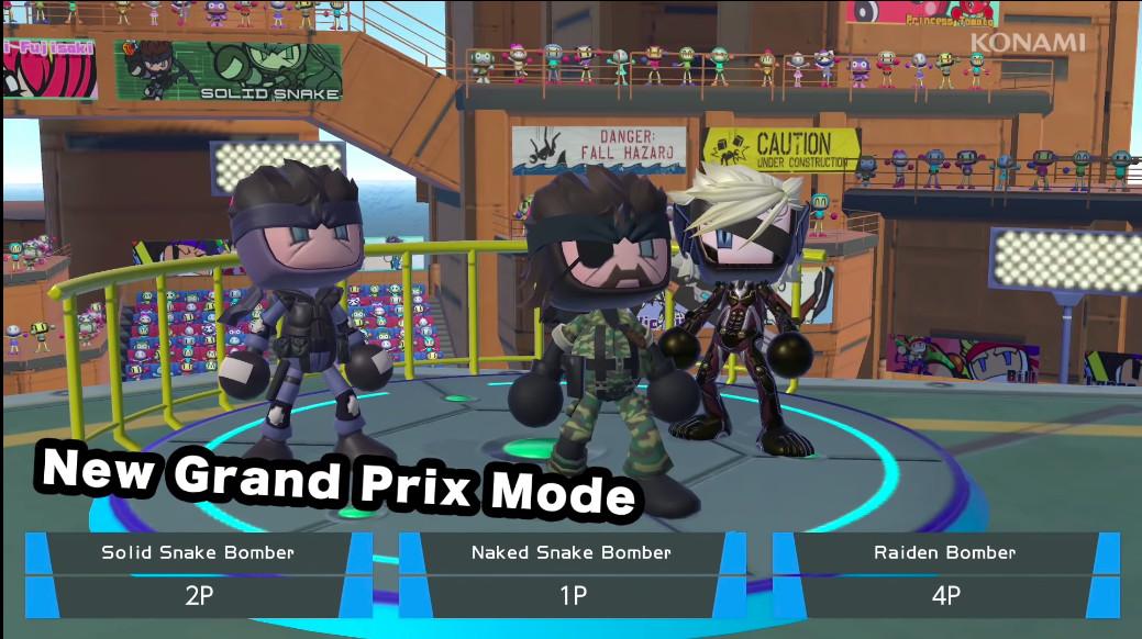 The Metal Gear Solid boys in Super Bomberman R