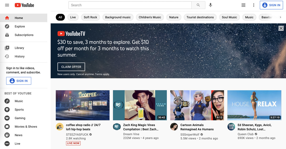 YouTube is banning alcohol, gambling, and politics from its 'most prominent' ad slot