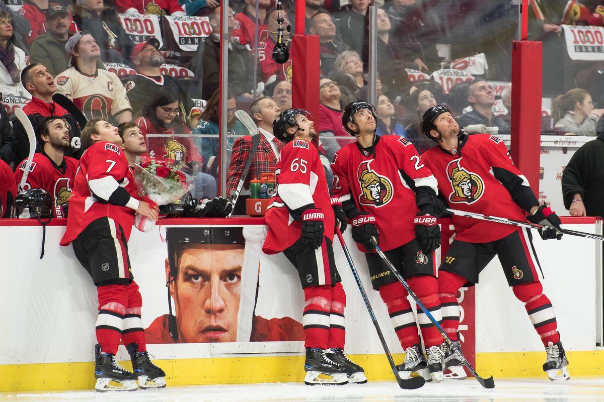 NHL: DEC 14 Sharks at Senators