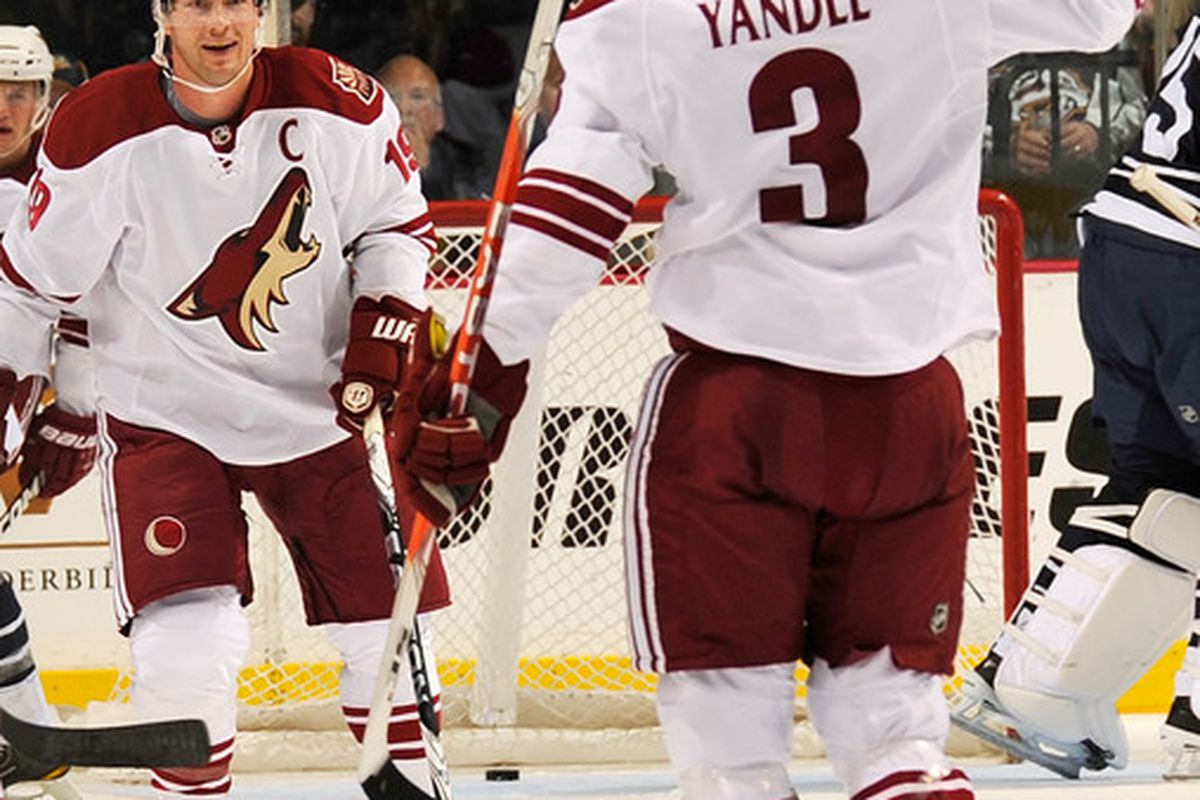 Keith Yandle seen here being his usual awesome self.