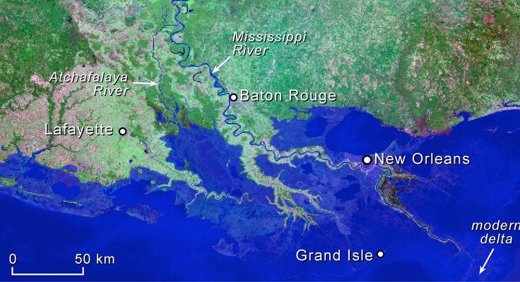 louisiana coastline 2100 sea-level rise