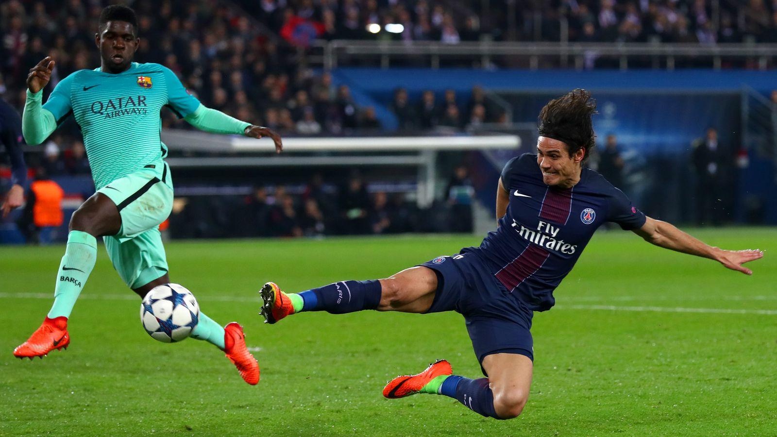 Edinson Cavani scores 4th goal for PSG vs. Barcelona in ...