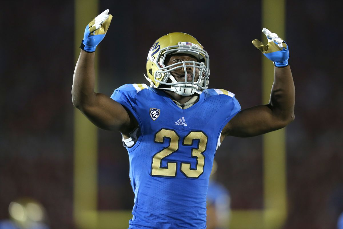 Who will take over for Johnathan Franklin in the Bruins backfield?