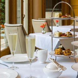 """<b><a href=""""http://www.rittenhousehotel.com/dining/tea"""">Afternoon Tea</a> at the Rittenhouse Hotel's Mary Cassatt Tea Room</b><br> For the fancy bride with champagne taste (or just a taste for charmingly tiny sandwiches and sweets), the Rittenhouse Hotel"""