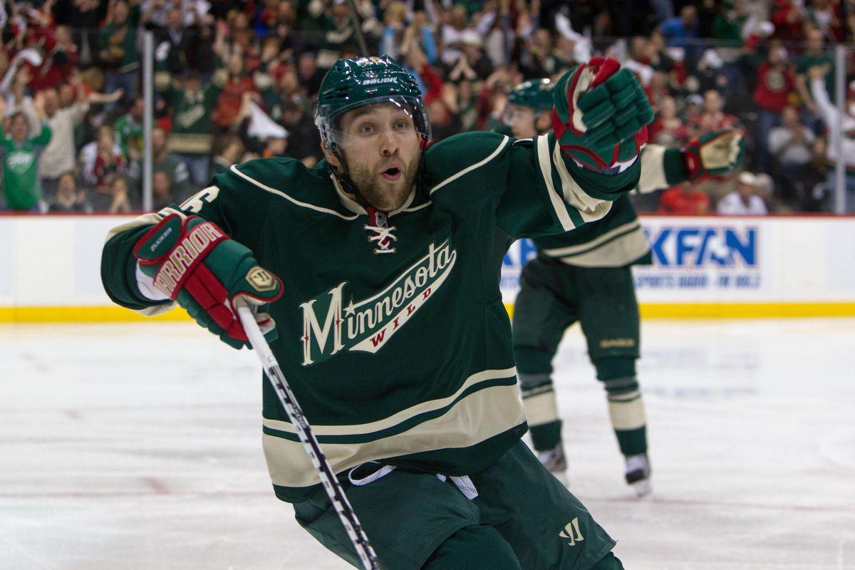 Zucker scored the game winning goal against the Blackhawks to lead Minnesota