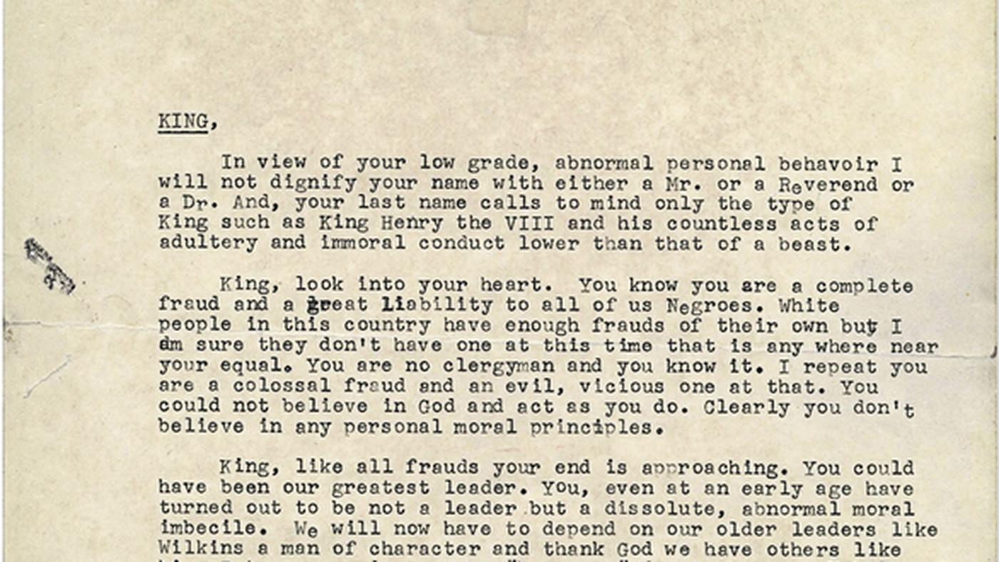 FBI–King suicide letter