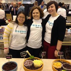 The ladies of Fluff Bake Bar, with Rebecca Masson at center (Photo: Mai Pham)