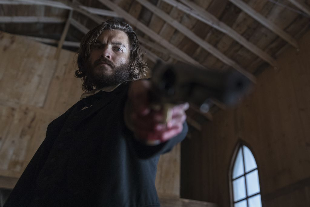 """Emile Hirsch plays the town's undertaker in """"Never Grow Old.""""   Saban Entertainment"""