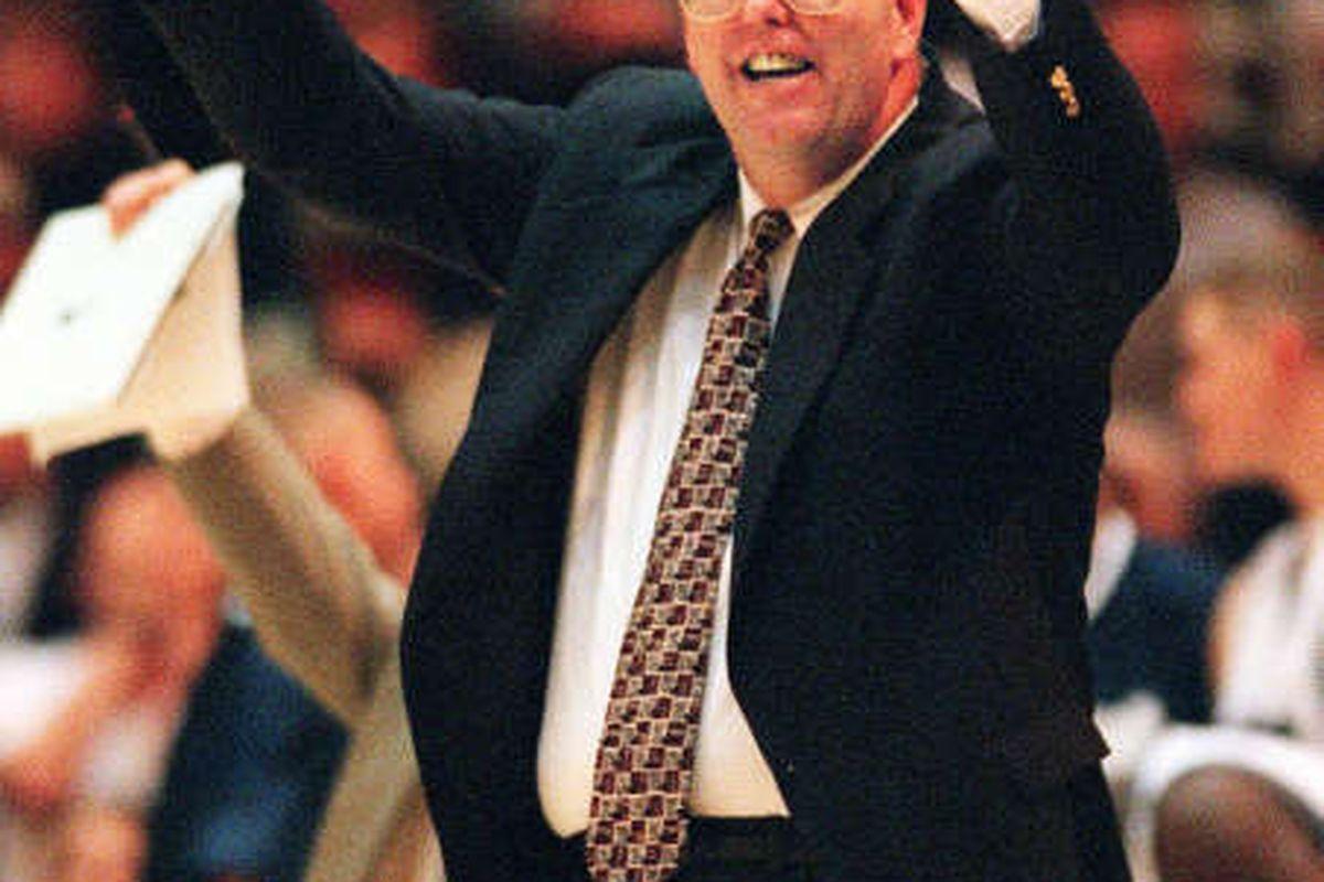 Stew Morrill watches his team beat Utah. Allred/photo