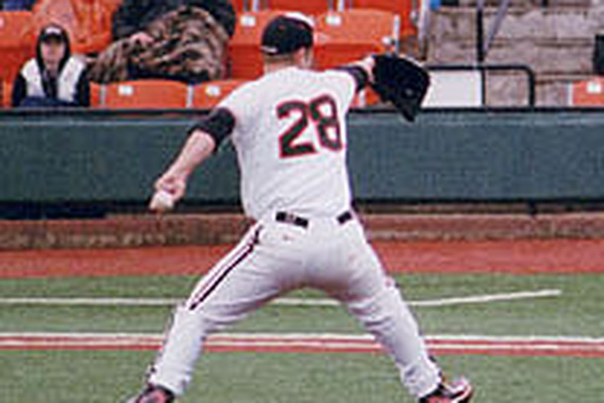 Ben Wetzler was going to take the mound first for Oregon St. today, as the Beavers open the 2013 baseball season. But a stiff back will delay his season a week, and force a shuffling of the staff.