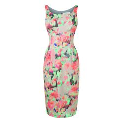 The Roxette dress in falling roses print.