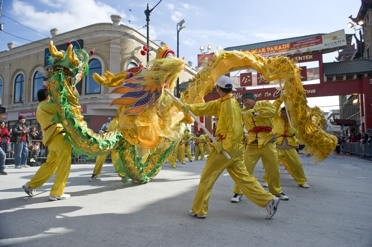 The Lunar New Year Parade in Chicago's Chinatown.  Sun-Times Archives