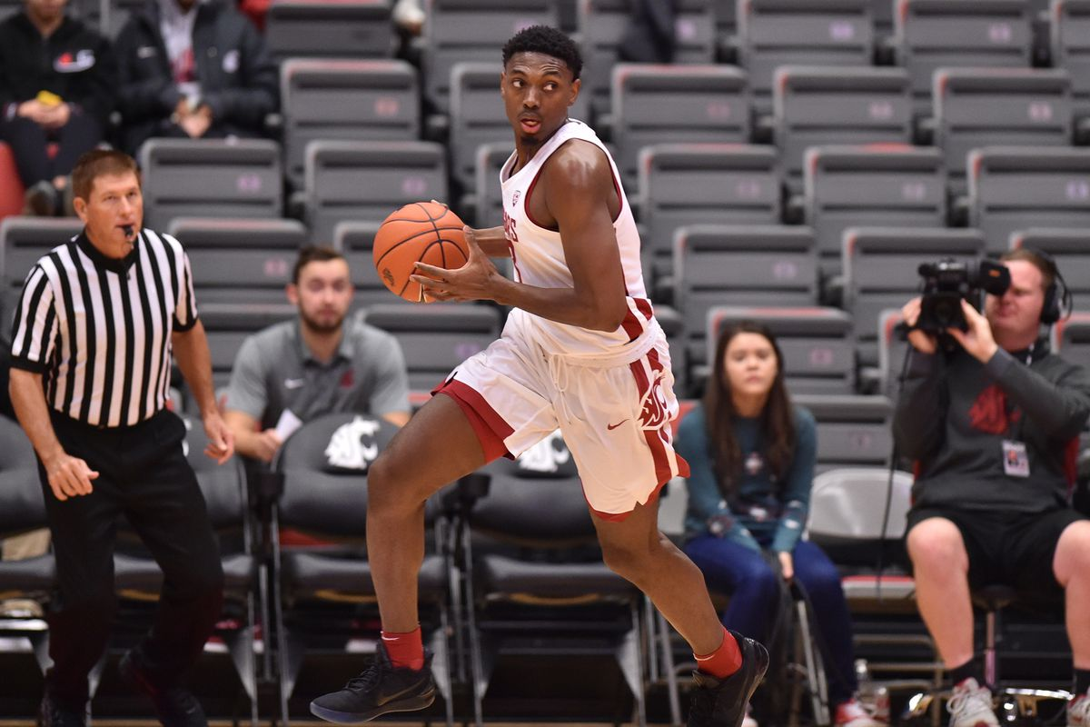 Washington State versus Saint Martin's during the first half of the Cougars 85-74 win over the Saints in a non-conference NCAA college exhibition basketball game Sunday, Nov. 5, 2017 at Beasely Coliseum in Pullman, Wash.