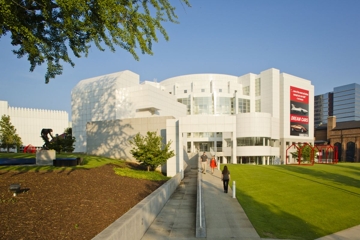 Exterior shot of the High Museum of Art.