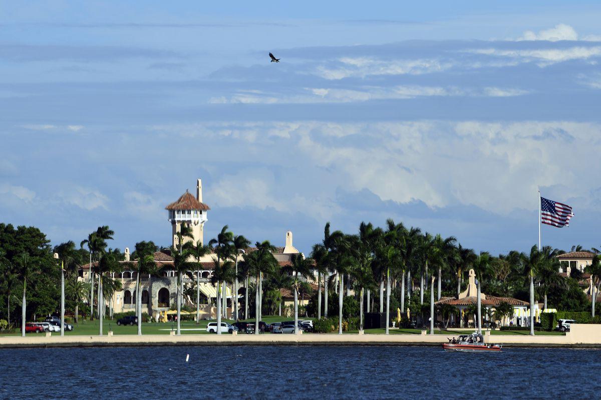 FILE - This Nov. 21, 2018, file photo shows President Donald Trump's Mar-a-Lago estate in Palm Beach, Fla.