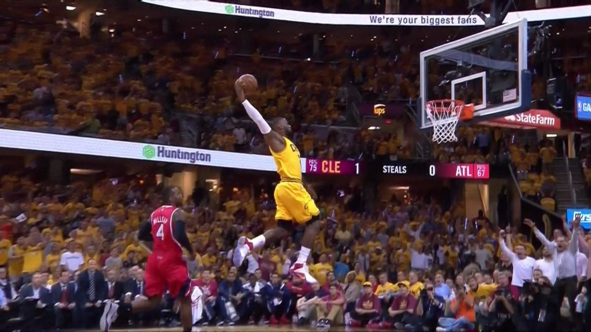This LeBron James dunk should be framed and hung up all over Cleveland - SBNation.com