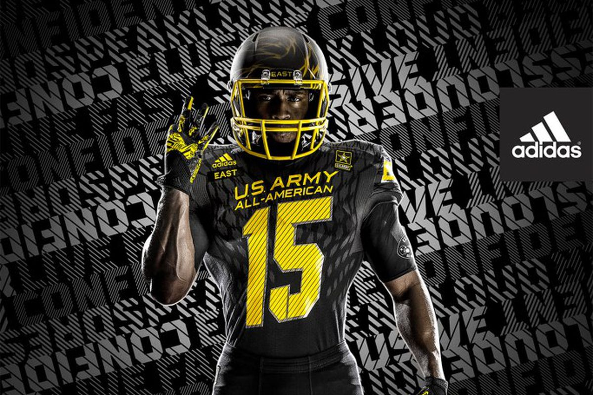 5581ea9150a2 2015 US Army All-American Bowl  Adidas unveils new uniforms ...