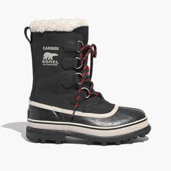 "Sorel x Madewell 'Caribou' boots, <a href=""https://www.madewell.com/madewell_category/SHOESANDBOOTS/weatherboots/PRDOVR~B3844/B3844.jsp"">$140</a> at Madewell"