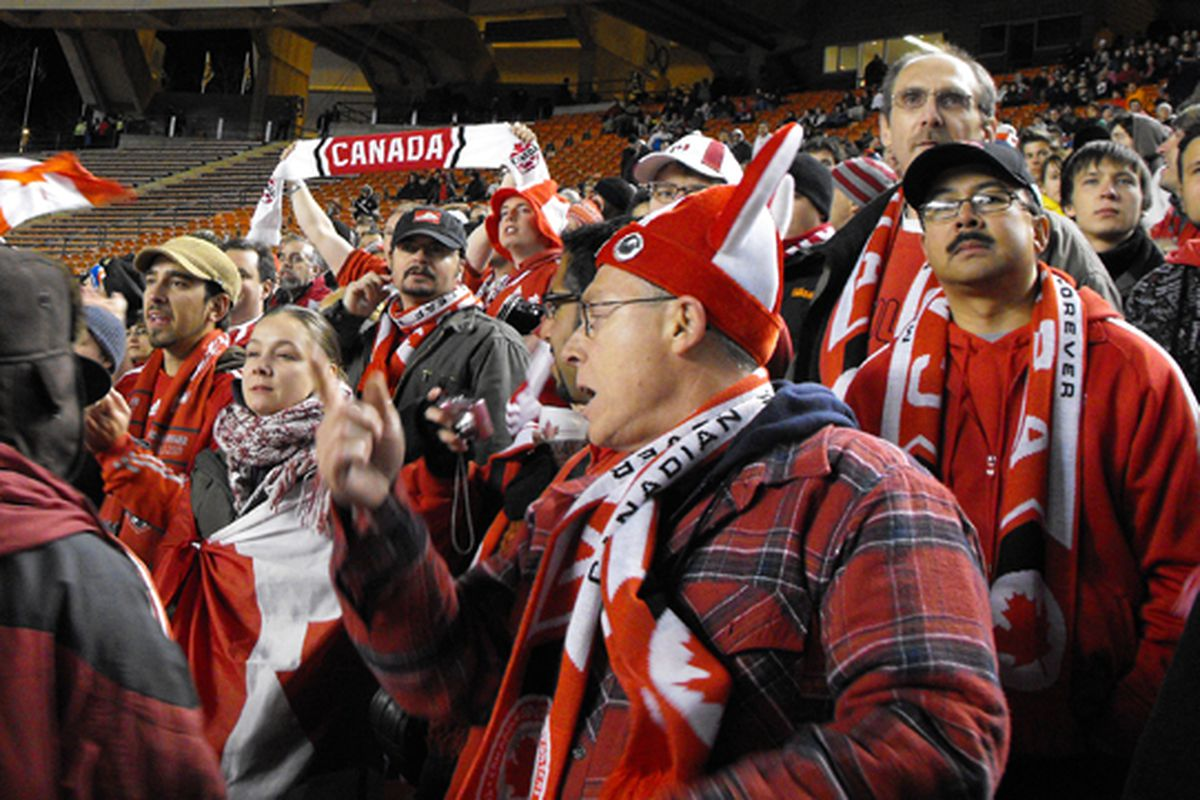 Commonwealth Stadium in Edmonton, and the West in general, doesn't get its due as a bastion of support for the Canadian national teams. (Benjamin Massey/Eighty Six Forever)