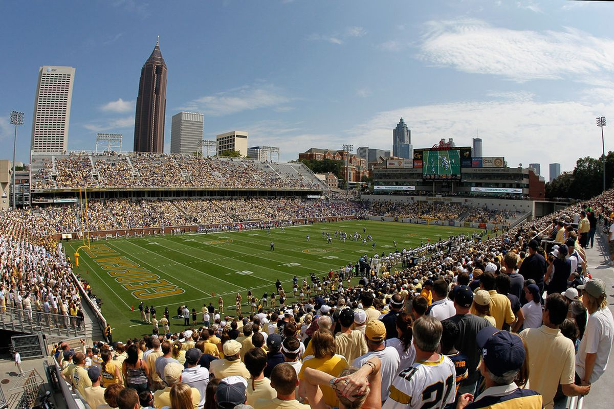 Real gameday crowd for a spring game? Just make a few small tweaks.....