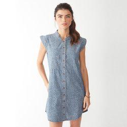"Alternative Lotus printed chambray dress, $112 at <a href=""http://www.alternativeapparel.com/womens/dresses-and-skirts/Lotus-Printed-Dress-14035UE"">Alternative</a>"