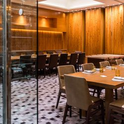 The private dining room at Harvest