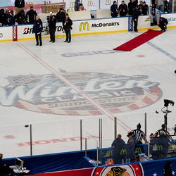 2015 NHL Winter Classic Logo At Center Ice After the Game