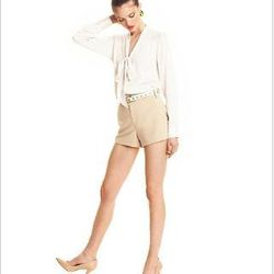 """<a href""""http://www1.macys.com/campaign/social?campaign_id=202&channel_id=1&cm_sp=fashionstar-_-episode10-_-homepagelink&bundle_entryPath=/karaGallery"""">Fashion Star Amanda Blouse & Michael Shorts</a>, $59 and $69 at Macy's"""