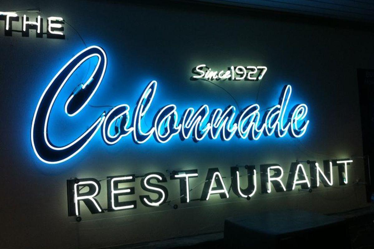 The Colonnade restaurant on Cheshire Bridge Road in Atlanta