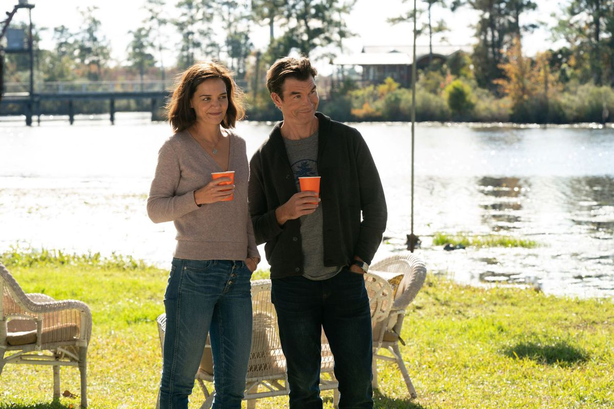 Katie Holmes and Jerry O'Connell in The Secret: Dare to Dream.