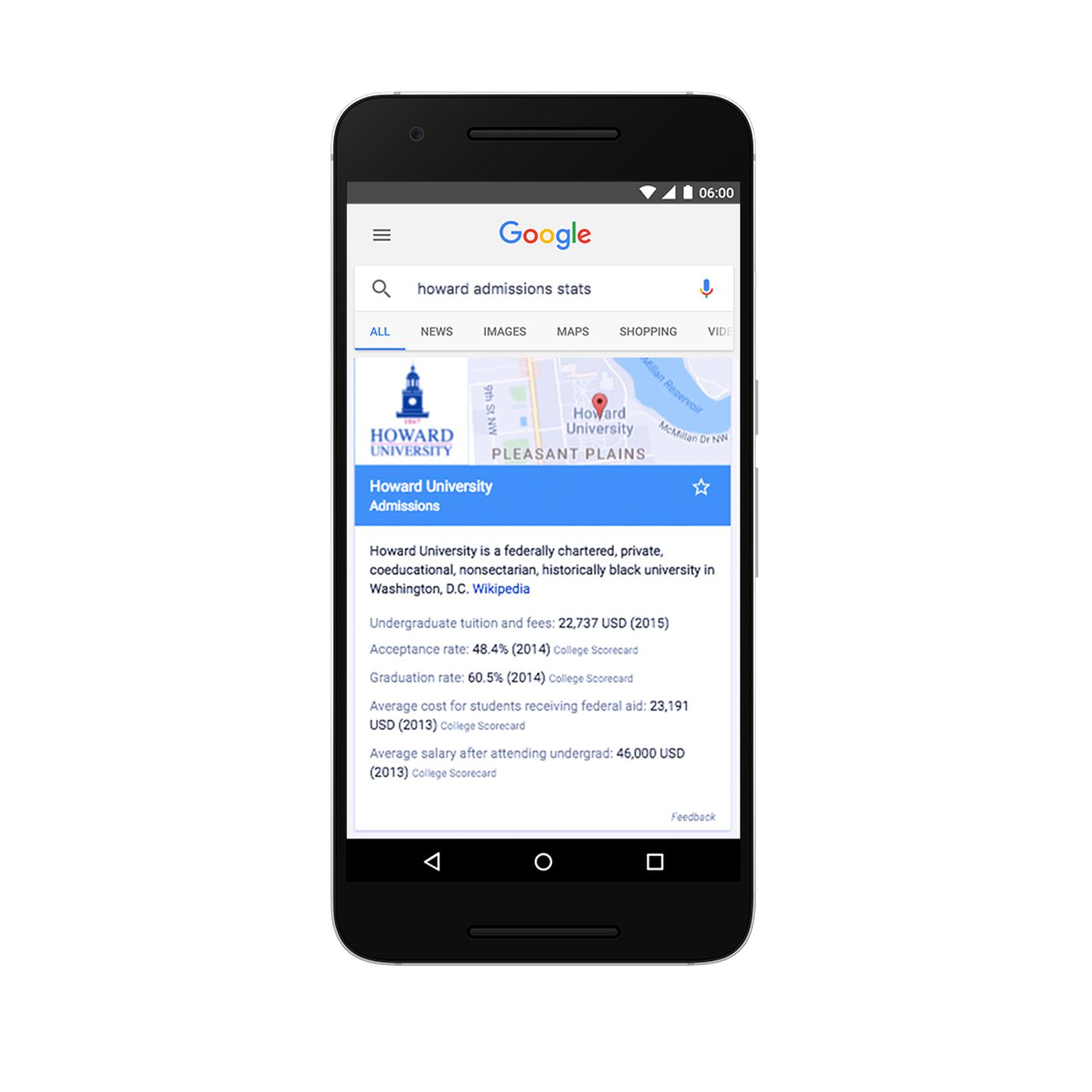 Google wants to educate students about universities right from