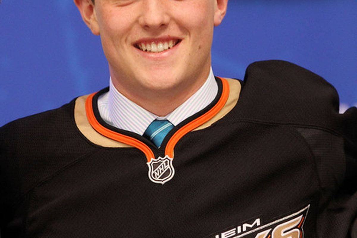 Sure, Cam Fowler is probably of normal intelligence.  But play along -- it's fun!  (Photo by Bruce Bennett/Getty Images)