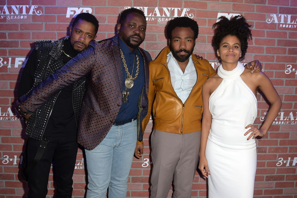Lakeith Stanfield, Brian Tyree Henry, Donald Glover, and Zazie Beetz