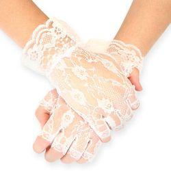 Ladies Emporium, white fingerless gloves, $9, ladiesemporium.com