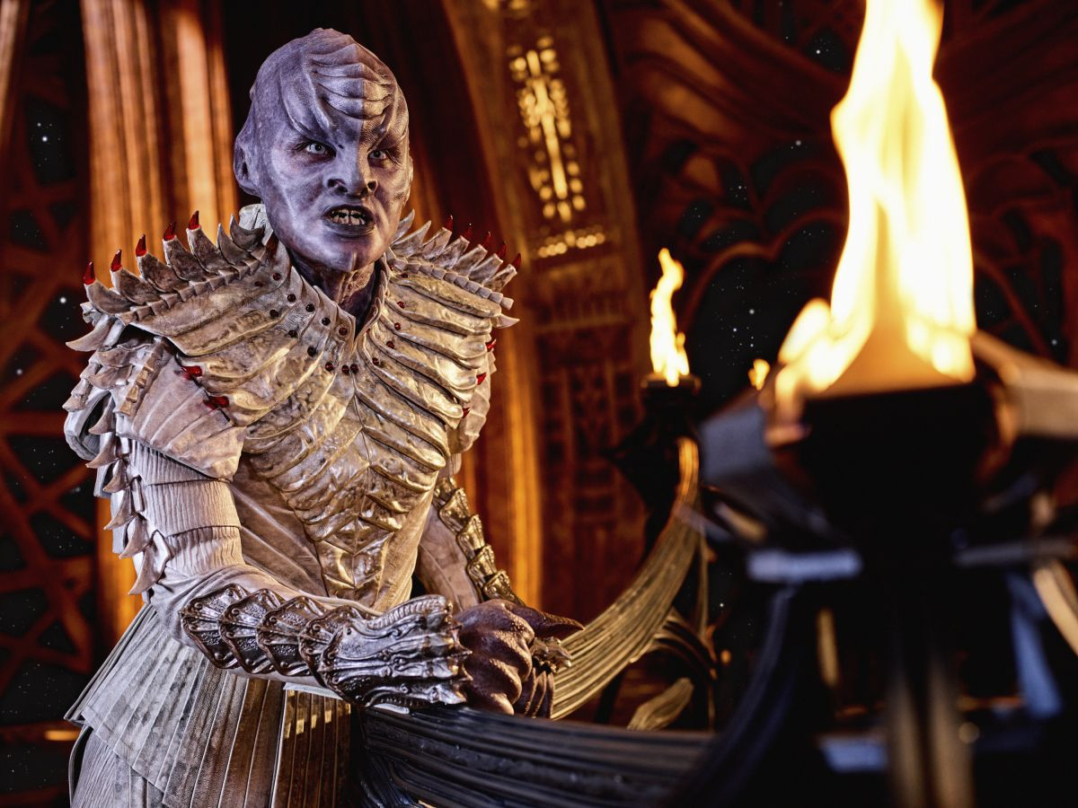 Mary Chieffo as L'Rell on Star Trek: Discovery.