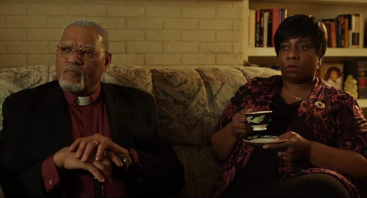 Laurence Fishburne and Deanna Reed-Foster in Last Flag Flying