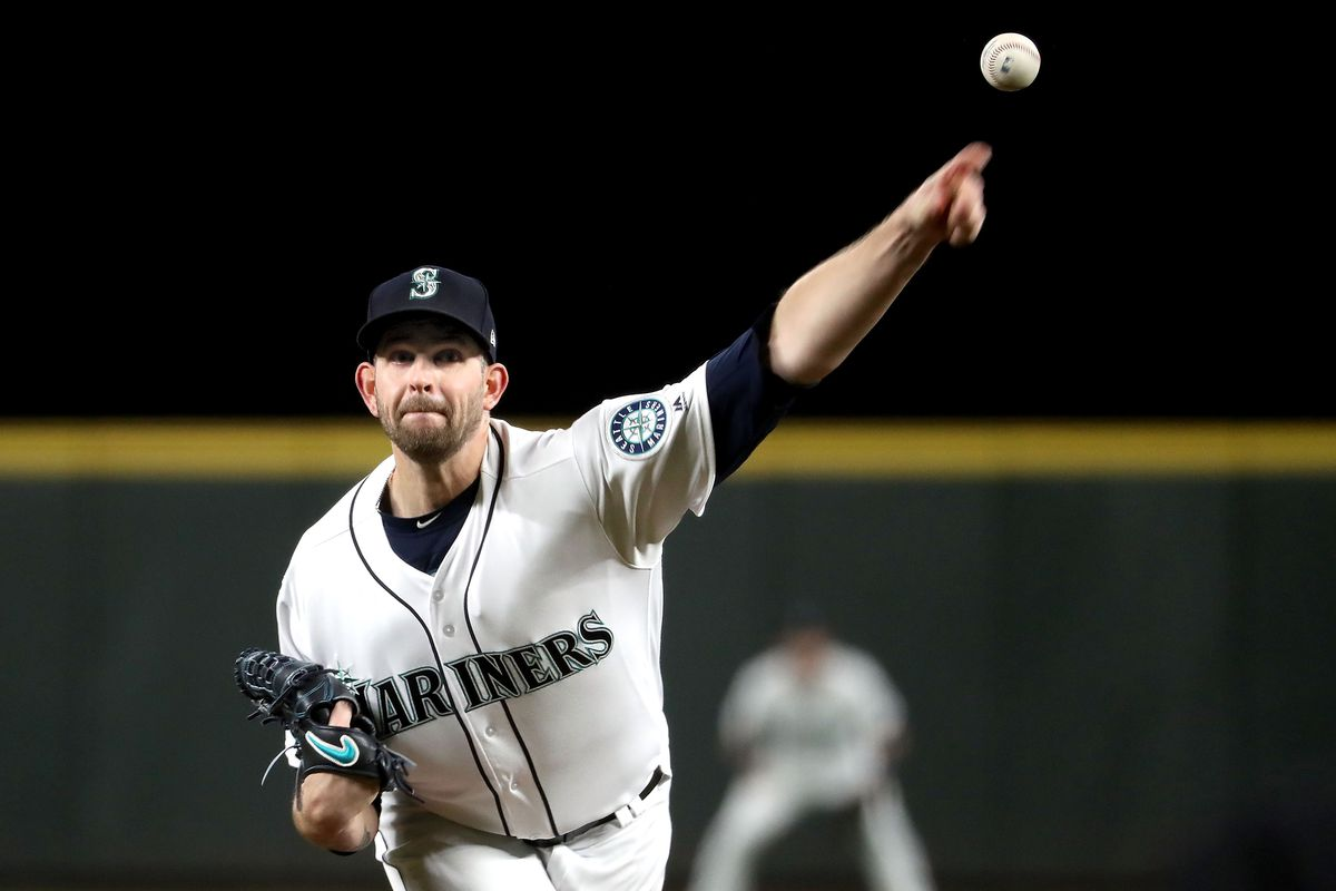 James Paxton throwing a pitch